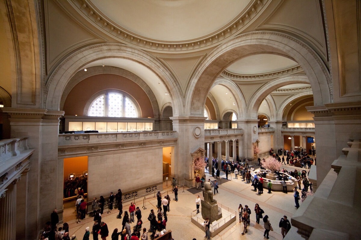 The Great Hall at the Metropolitan Museum. Photo by WestportWiki, via Wikimedia Commons.