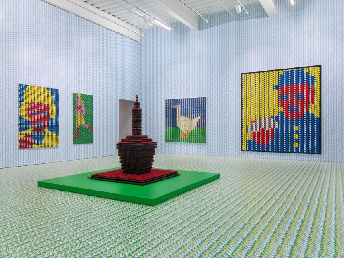 """Vista de la instalación del """"Tiempo de juego"""" de Thomas Bayrle en el New Museum, Nueva York, 2018. Cortesía de New Museum."""