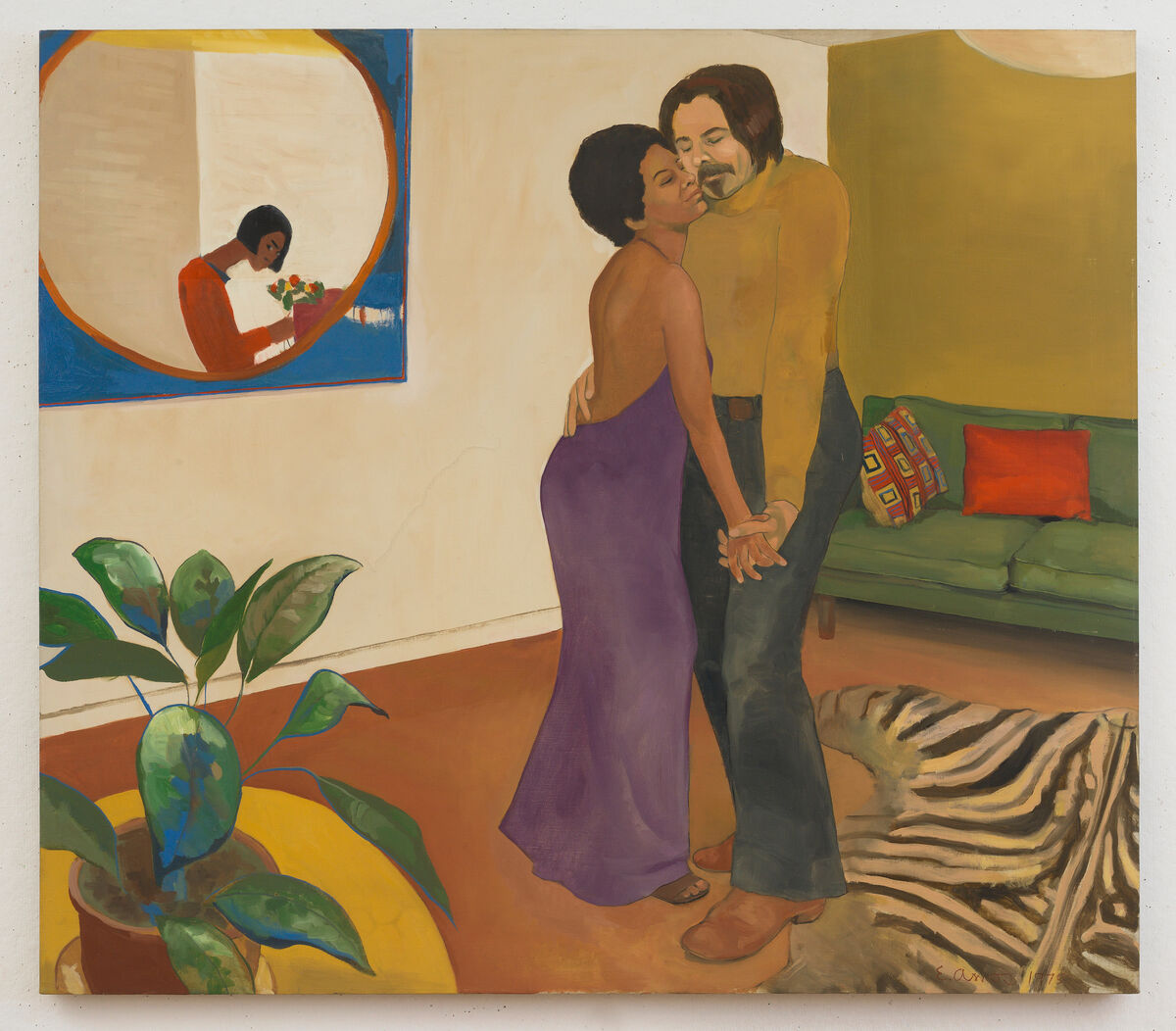 Emma Amos, Sandy and Her Husband, 1973. Courtesy of the artist and Ryan Lee Gallery. Courtesy of Brooklyn Museum.