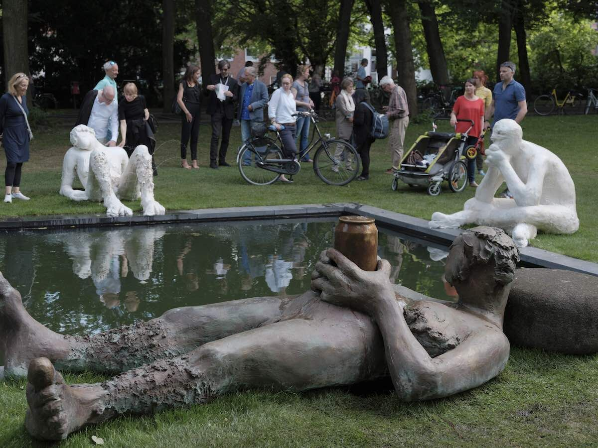 Nicole Eisenman, Sketch for a Fountain, 2017. ©Skulptur Projekte 2017. Photo by Henning Rogge.