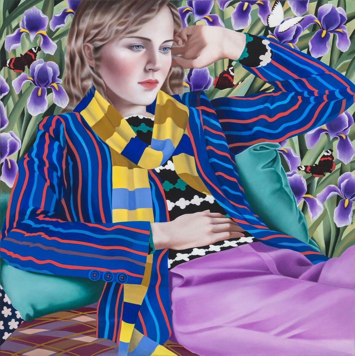 Jocelyn Hobbie, Irises, 2018. © Jocelyn Hobbie. Courtesy of Fredericks & Freiser, NY.