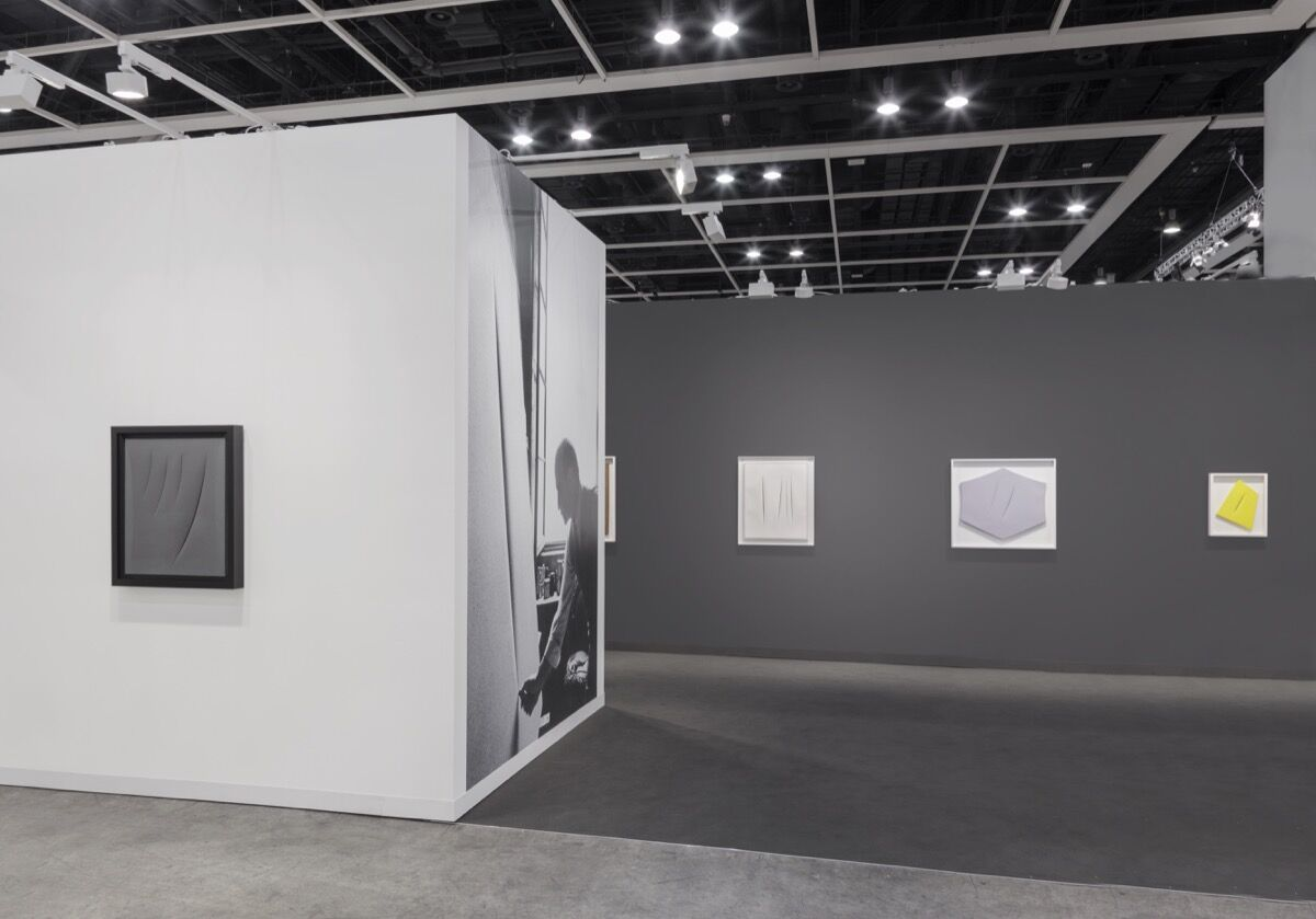 Installation view of Luxembourg & Dayan's booth at Art Basel in Hong Kong, 2017. Photo courtesy ofSebastiano Pellion di Persano.
