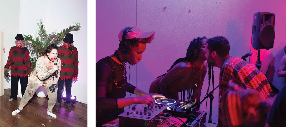 Left: Jaimie Warren performs at The Standard, East Village. Photo© Mari Kon. Right: House of Ladosha event. Photo©Stephen Faught.