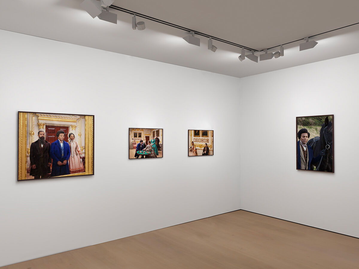 """XR installation view of works by Isaac Julien from """"Lessons of the Hour – Frederick Douglass"""" at Victoria Miro on Vortic, 2020. © Isaac Julien. Courtesy of the artist, Victoria Miro, and Metro Pictures."""