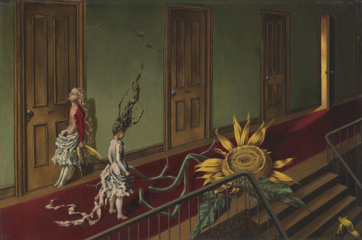 Dorothea Tanning, Eine Kleine Nachtmusik, 1943. © DACS, 2018. Courtesy of Tate.