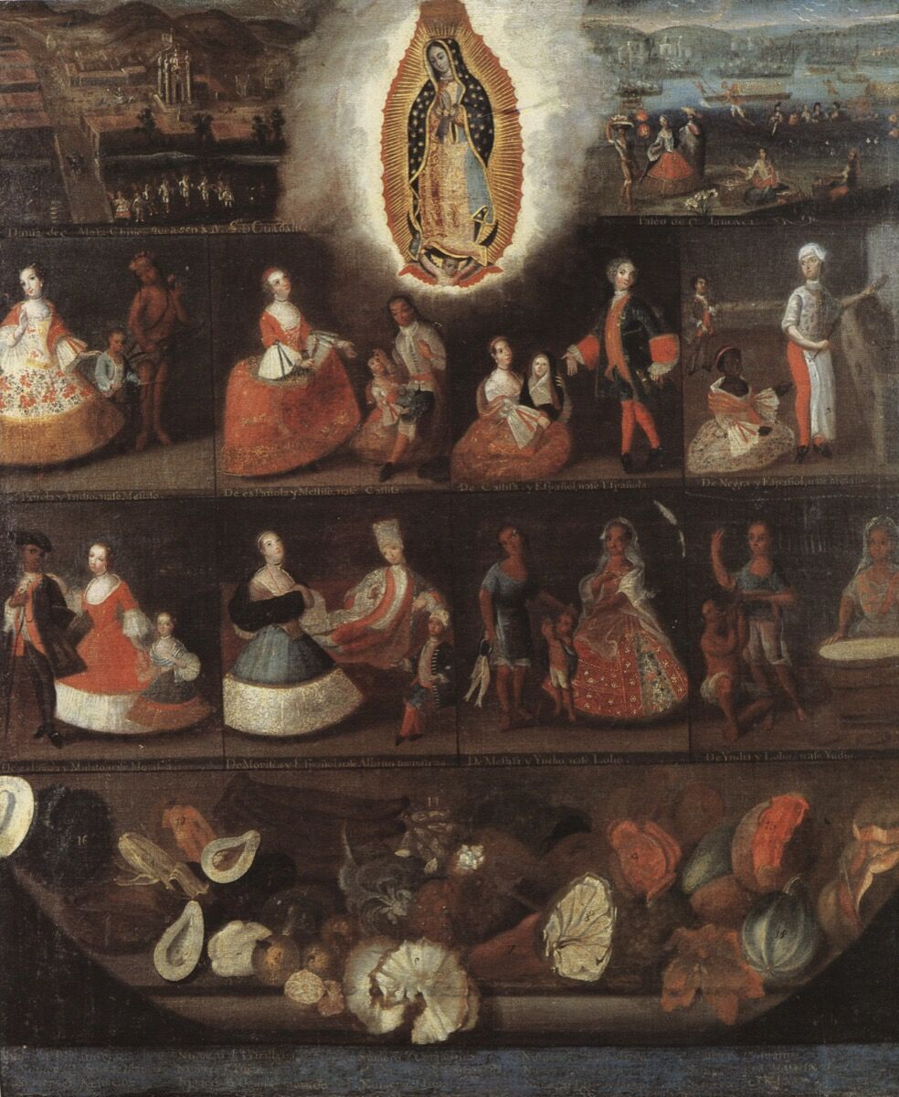 Luis de Mena, Castas, ca. 1750. Photo via Wikimedia Commons.