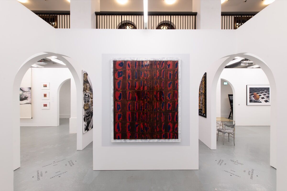 Duan Yifan, installation view in Leo Gallery's booth at Unscheduled, 2020. © HKAGA. Photo by Felix SC Wong. Courtesy of Hong Kong Art Gallery Association.