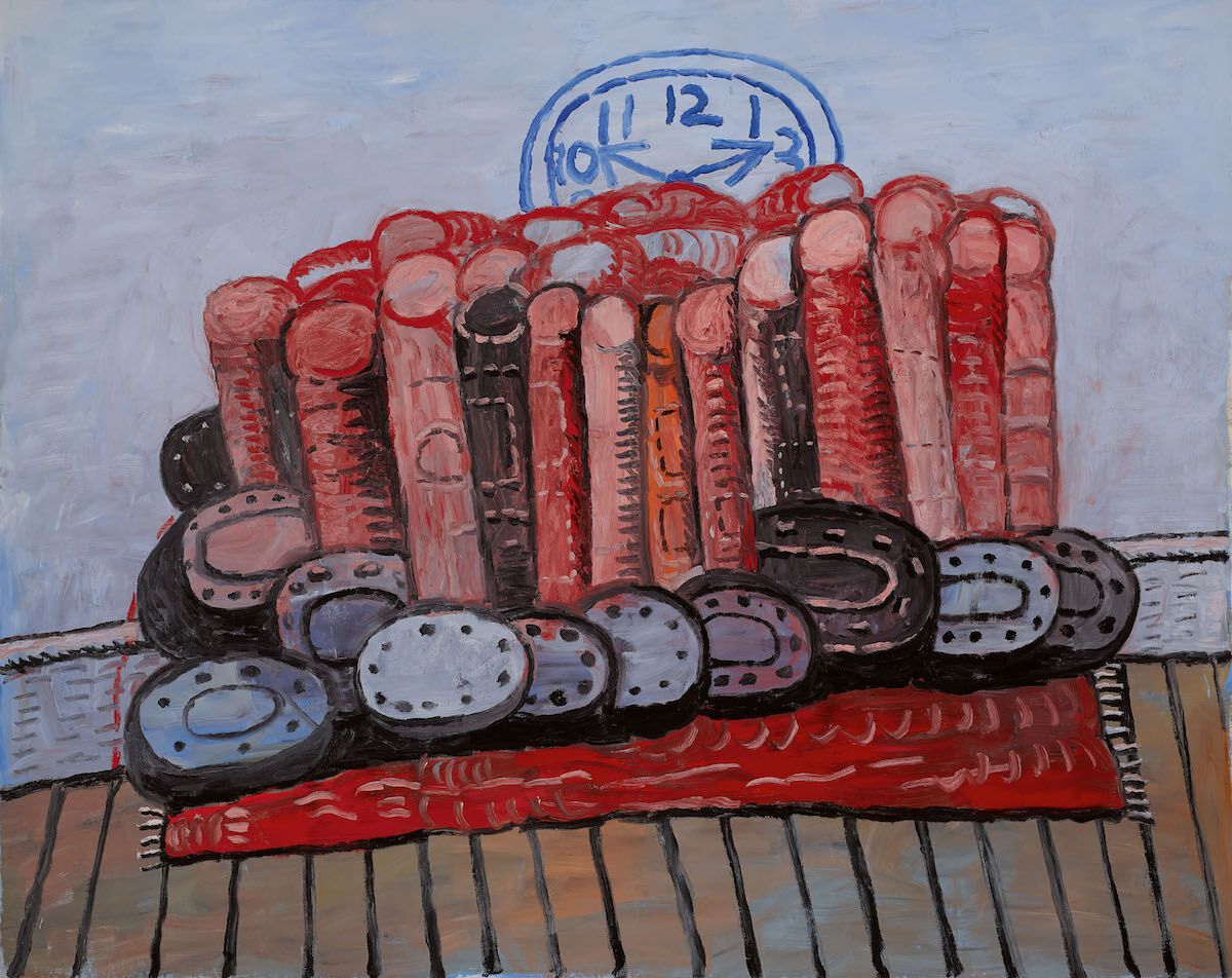 Philip Guston, Legs, Rug, Floor, 1976, oil on canvas. Est. $6 million–$8 million. Courtesy Sotheby's.