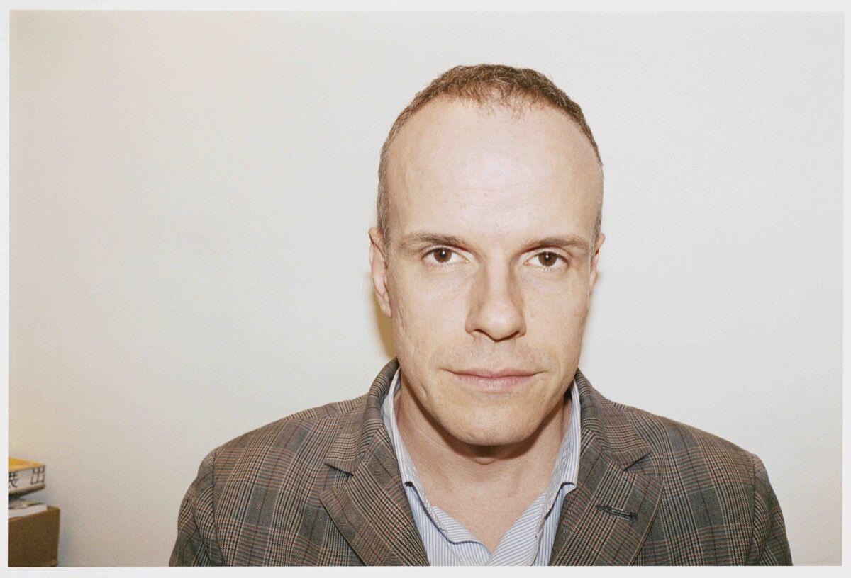 Portrait of Hans Ulrich Obrist by Juergen Teller.