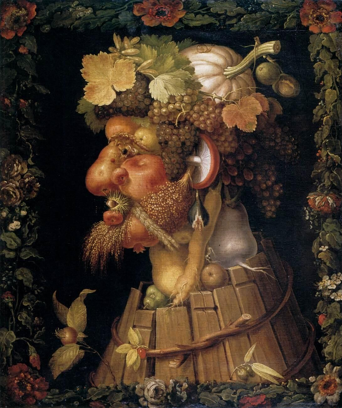 Giuseppe Arcimboldo, Autumn, 1573. Photo via Wikimedia Commons.