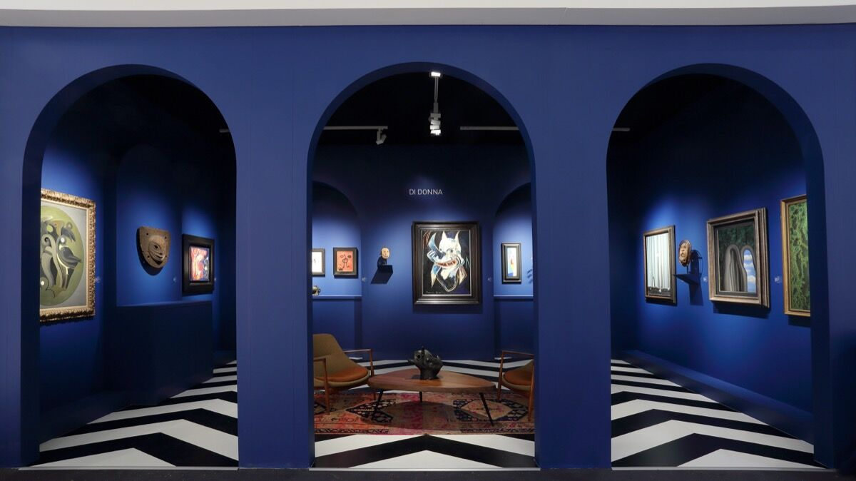 Installation view of Di Donna Galleries's booth at TEFAF New York. Courtesy of Di Donna Galleries.