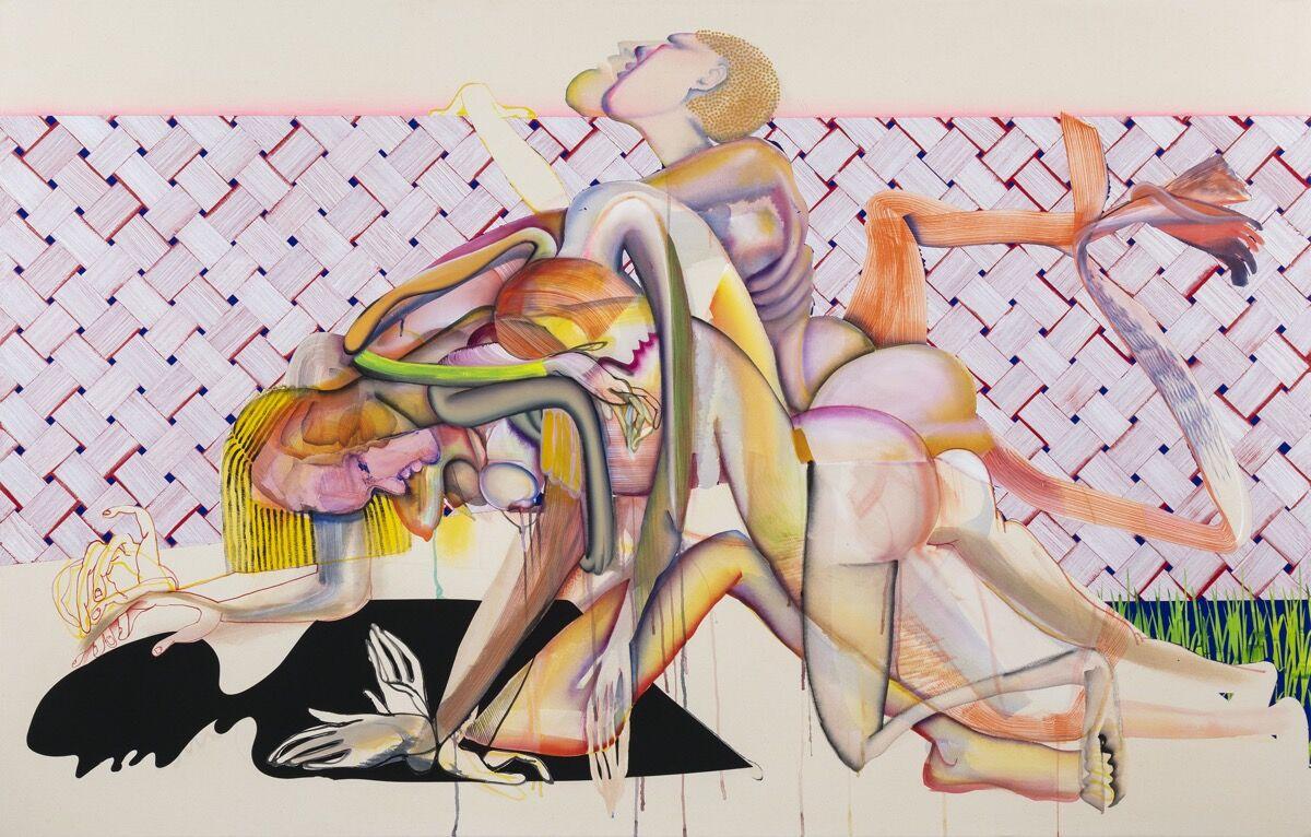 Christina Quarles, Peer Amid (Peered Amidst), 2019. © Christina Quarles. Courtesy of Regen Projects, Los Angeles; and Pilar Corrias, London.
