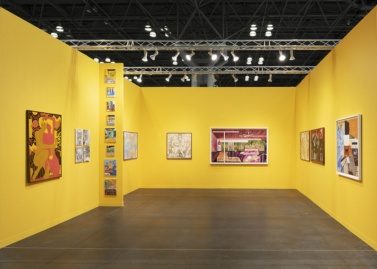 Installation view of Arusha Gallery's booth at The Armory Show, 2021. Photo by Mikhail Mishin. Courtesy of Arusha Gallery.