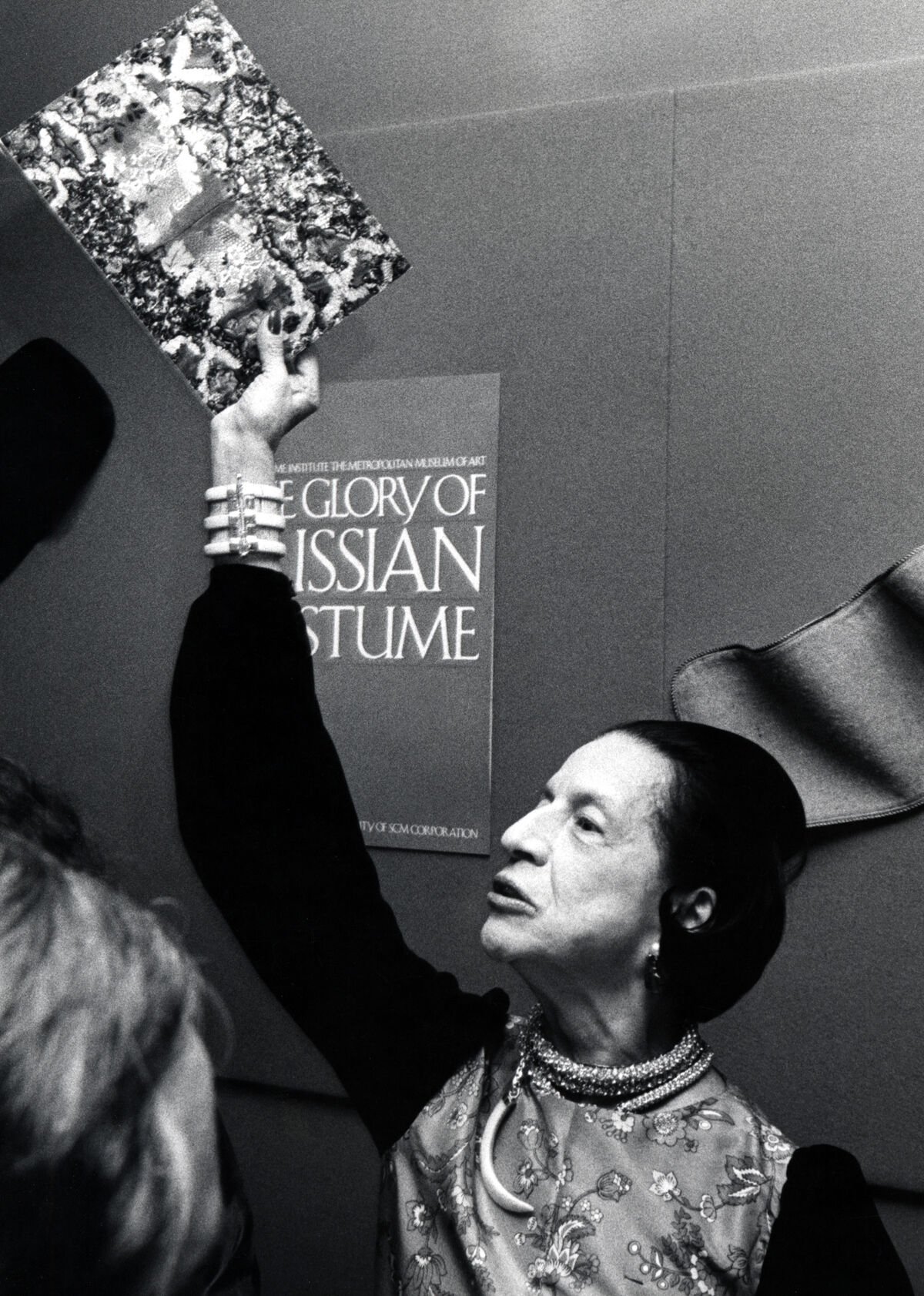 """Diana Vreeland at """"The Glory of Russian Costume"""" Costume Institute Benefit Gala at the Metropolitan Museum of Art, New York, 1976. Photo by Ron Galella/WireImage."""