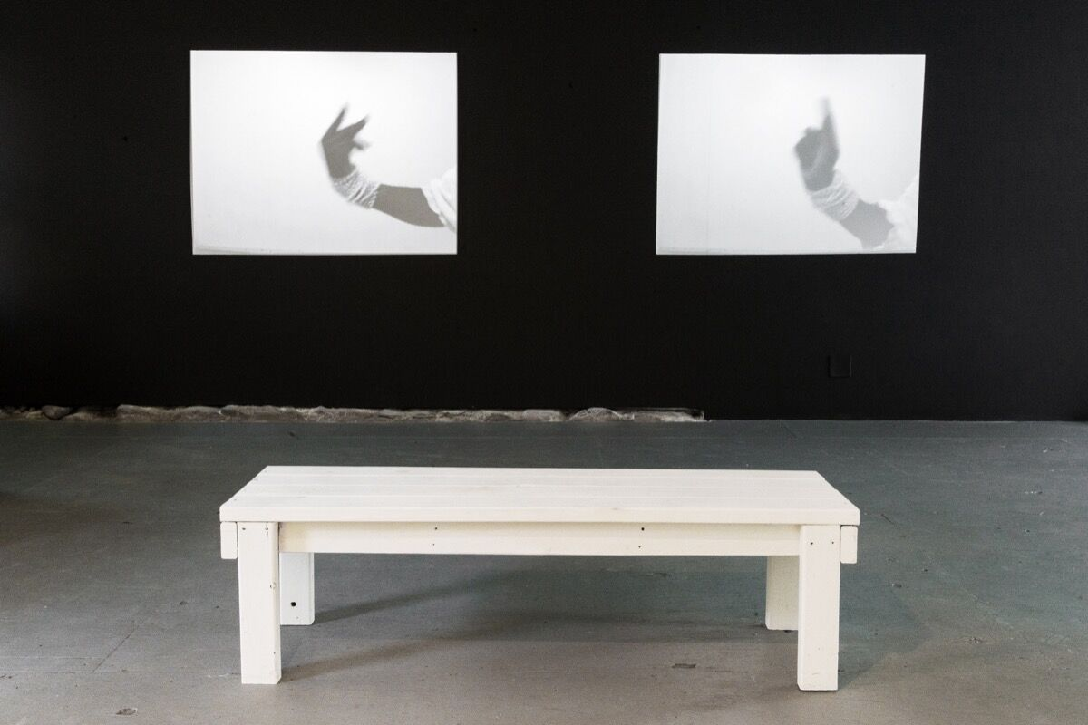 """Installation view of Dineo Seshee Bopape's the beautiful ones are not yet born, 2007. Courtesy of """"We Buy Gold."""""""
