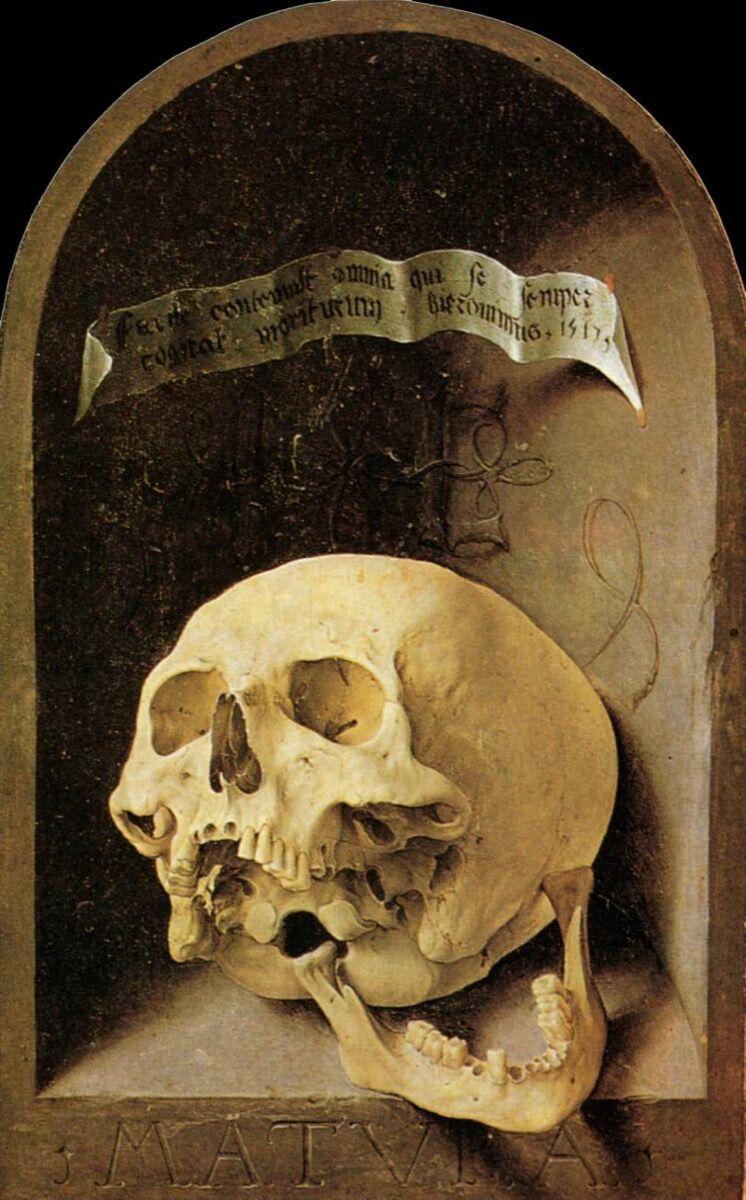 Exterior panel of Jan Gossaet, Carondelet Diptych, 1517. Image via Wikimedia Commons.
