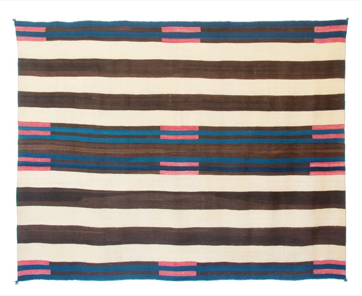 Navajo people, A Classic Second Phase Chief's Blanket with Manchester Bayeta, Navajo, c. 1840. © 2017 Joshua Baer & Company, a New Mexico Corporation. Courtesy of Pace.
