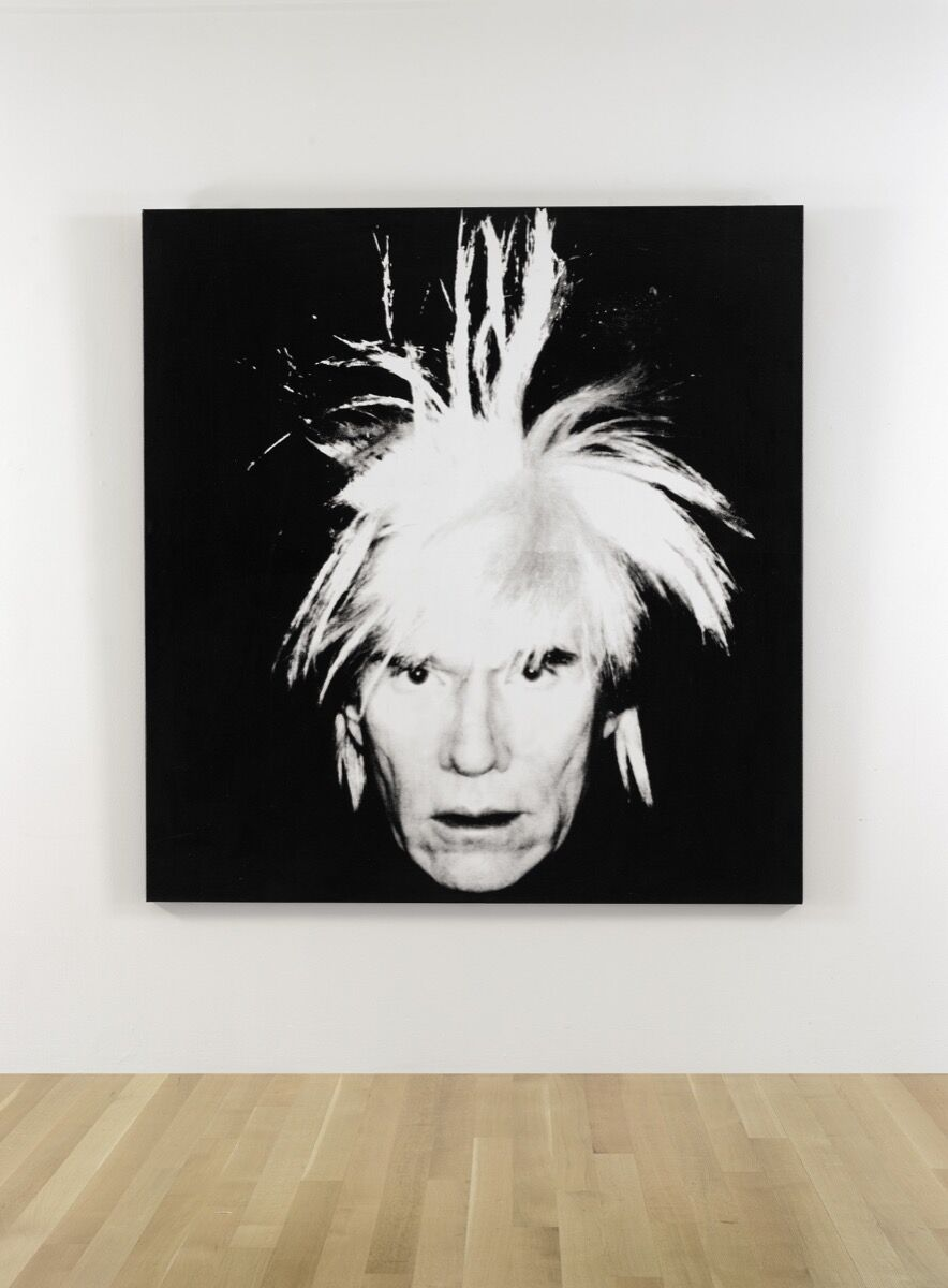 Andy Warhol,Self-Portrait (Fright Wig), 1986. Image courtesy of Sotheby's.