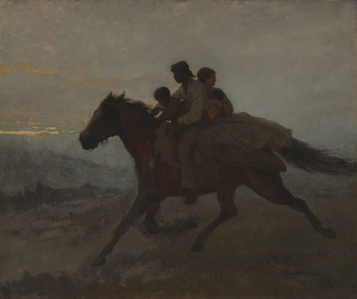 Eastman Johnson, A Ride for Liberty - The Fugitive Slaves, March 2, 1862, 1862. Courtesy of Virginia Museum of Fine Arts.