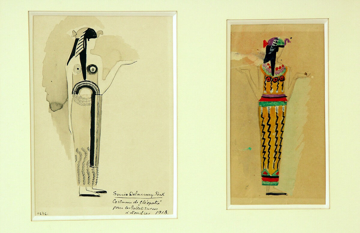 Sonia Delaunay, Two costume designs for the ballet Cleopatra, 1918. © Pracusa 2017633. Courtesy of Museo Thyssen.