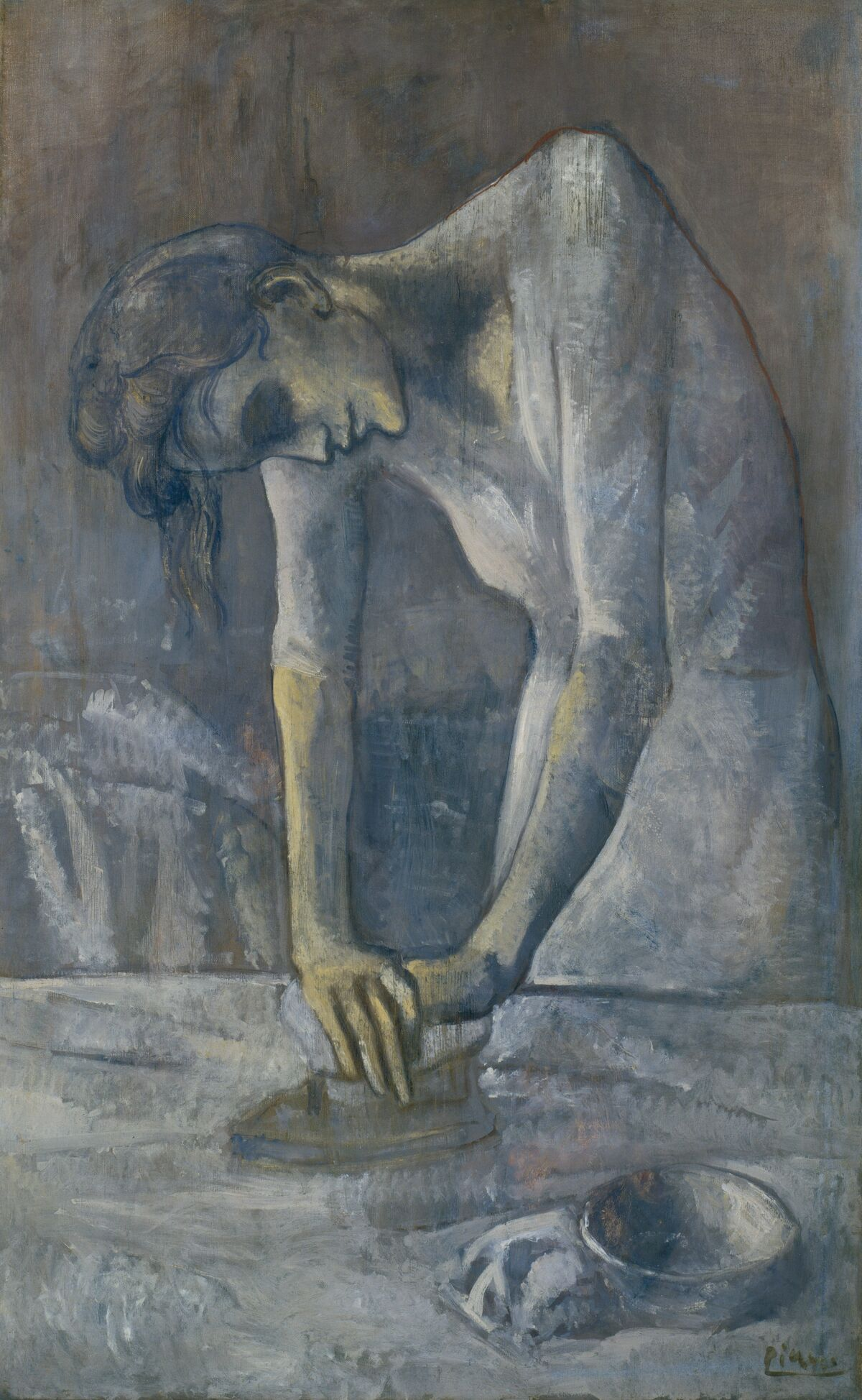 Pablo Picasso, Woman Ironing, 1904. © 2018 Estate of Pablo Picasso / Artists Rights Society (ARS), New York. Courtesy of the Solomon R. Guggenheim Museum, New York.
