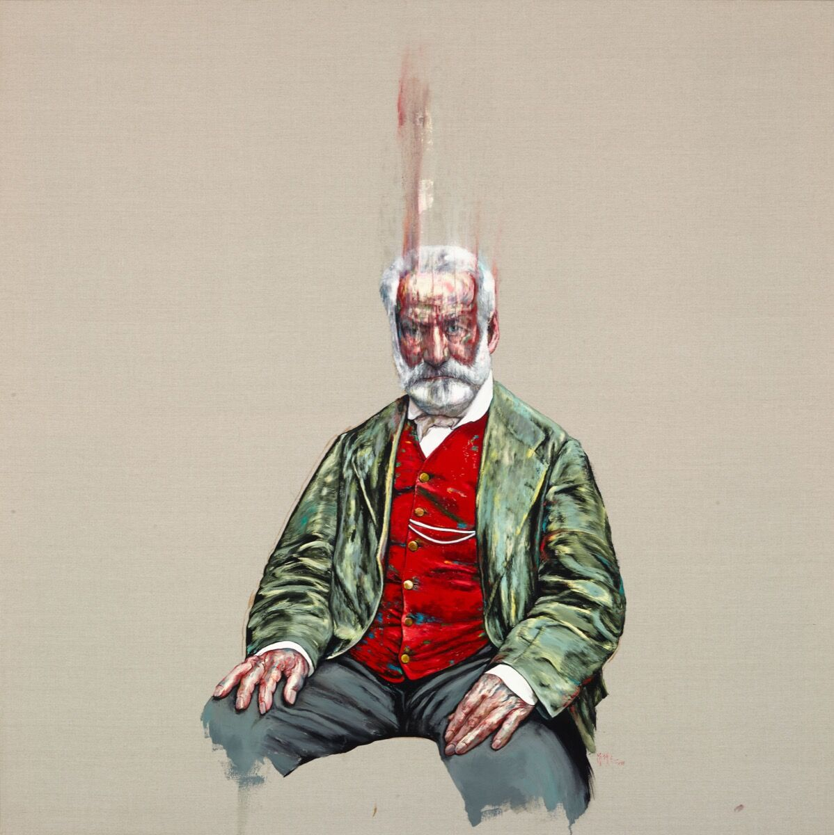 Zeng Fanzhi, Victor Hugo, 2018. © Zeng Fanzhi. Courtesy of the artist and Hauser & Wirth.