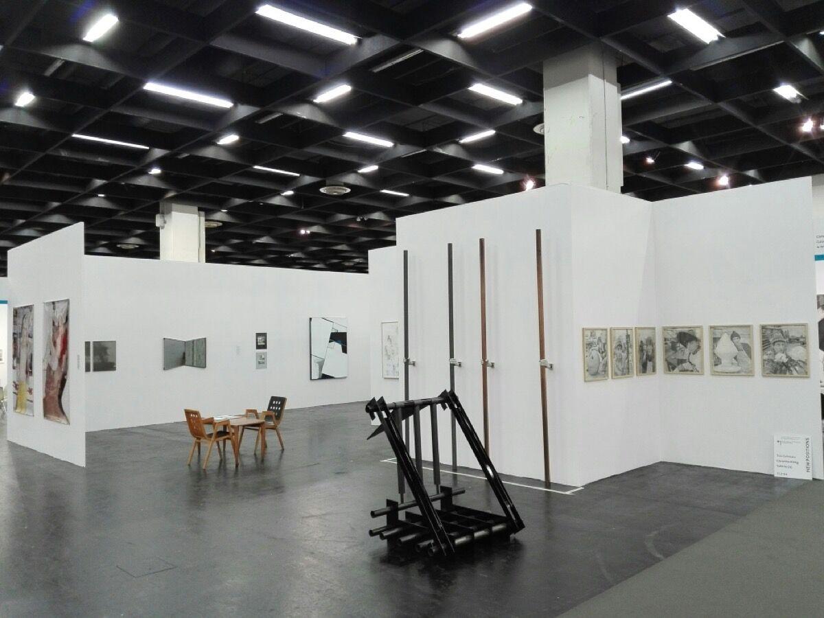 Installation view of Christine König Galerie's booth at Art Cologne, 2017. Courtesy Christine König Galerie, Vienna.