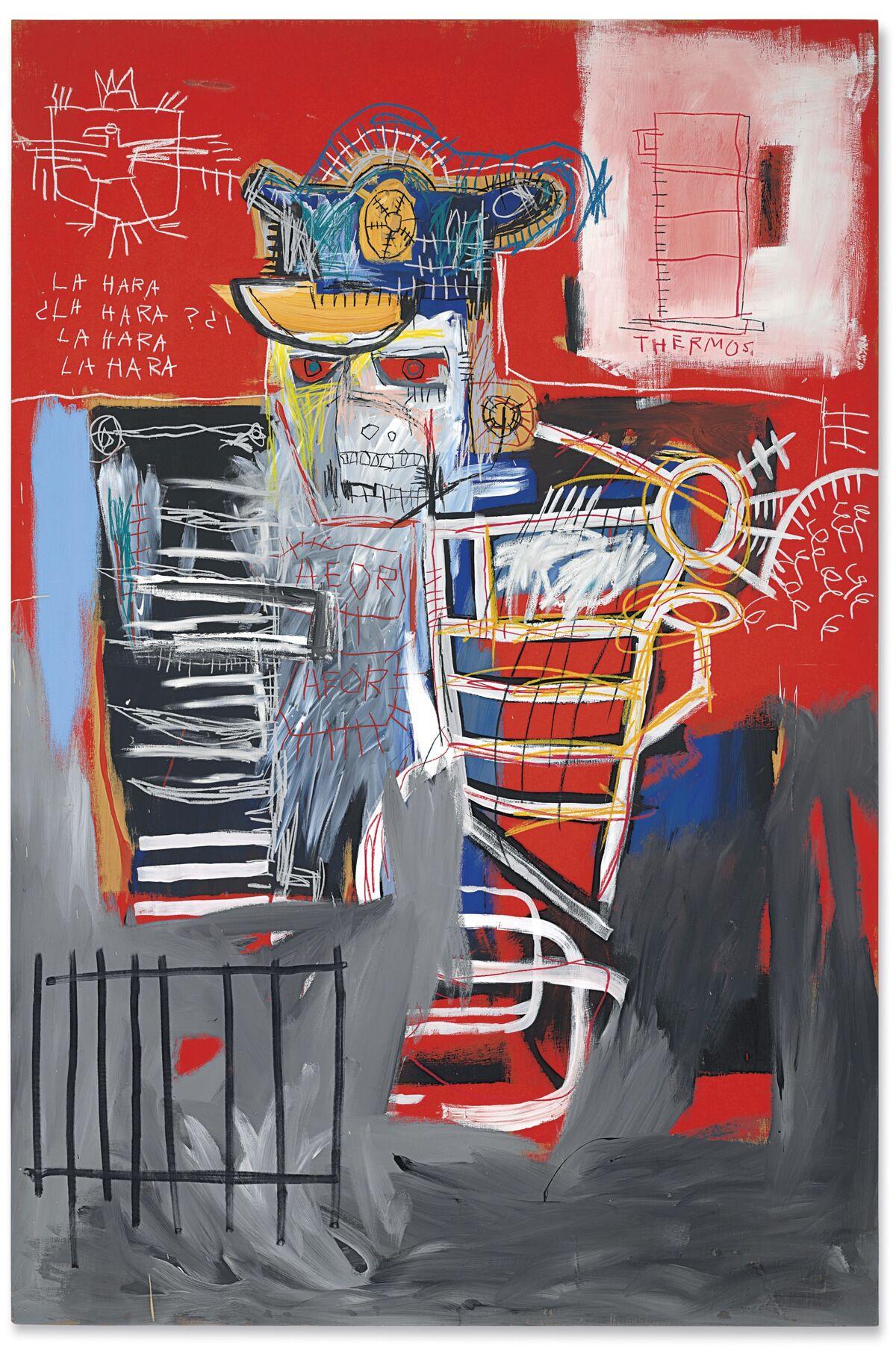 Jean-Michel Basquiat, La Hara, 1981. Courtesy of Christie's.