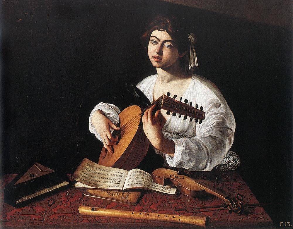 Michelangelo Merisi da Caravaggio,  The Lute Player , ca. 1596–97. Image via Wikimedia Commons.