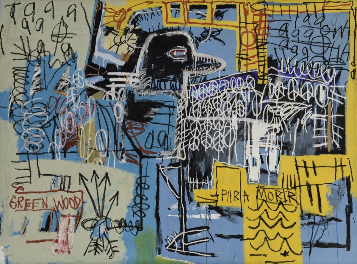 Jean-Michel Basquiat, Bird On Money, 1981. Courtesy of Rubell Family Collection, Miami.