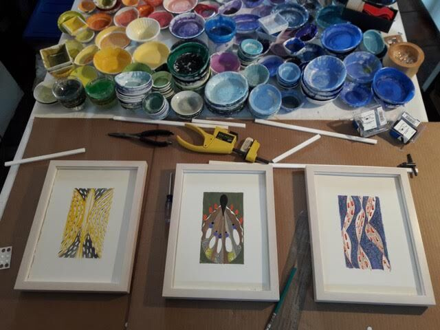 A peek into the process behind Carter's Paintings.