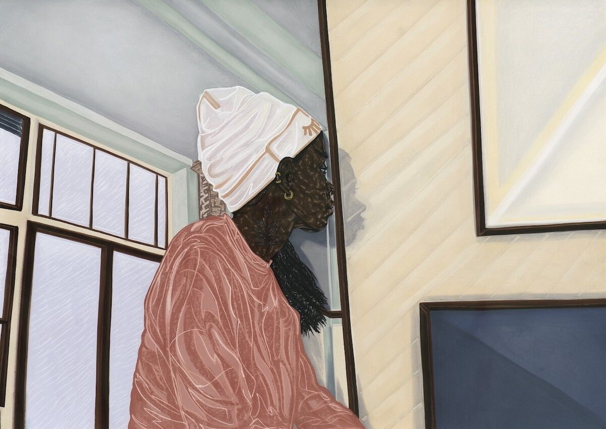 Toyin Ojih Odutola, Compound Leaf, 2017. Courtesy Sotheby's.