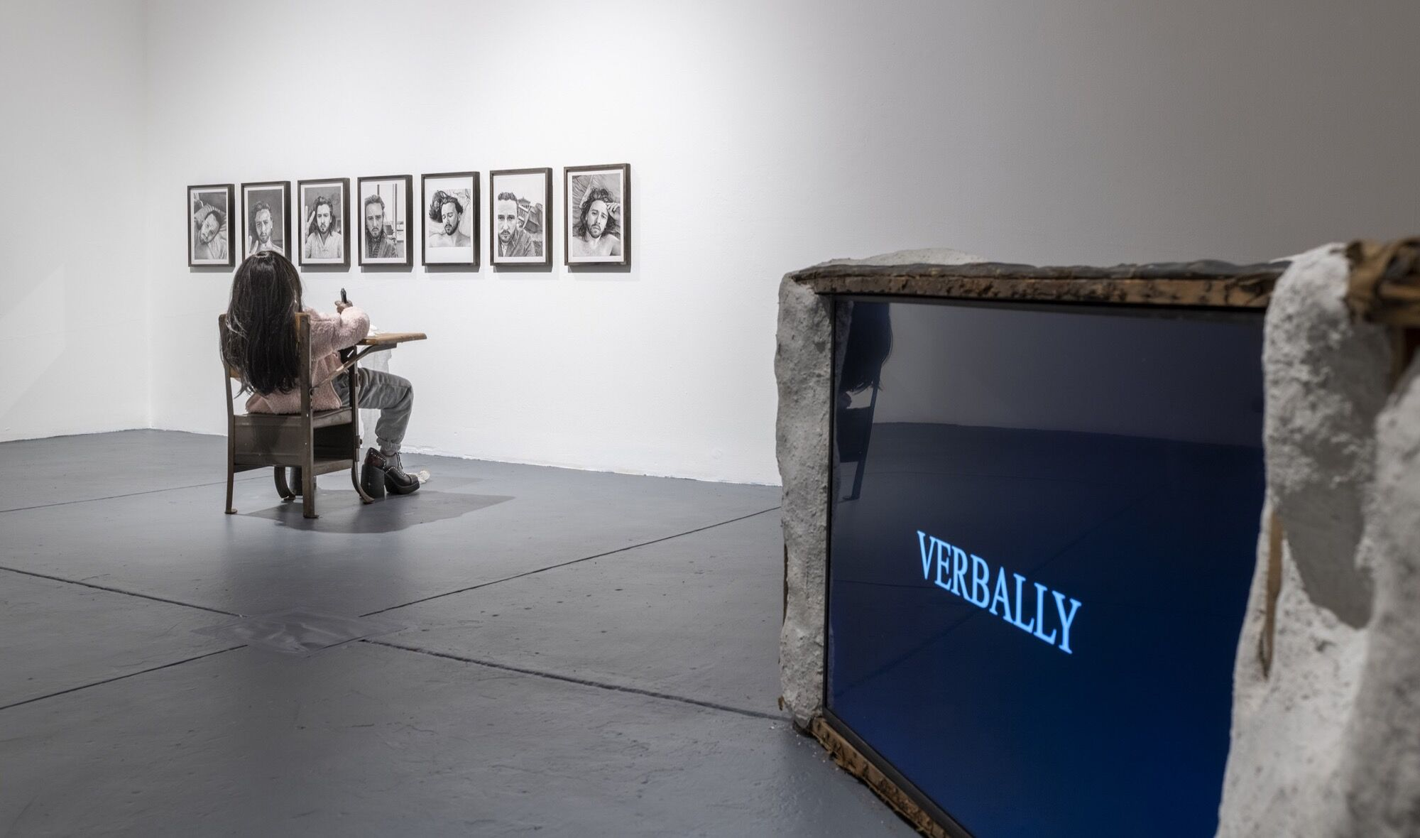 """Catalina Ouyang, installation view in """"THE SIREN"""" at Real Art Ways, 2021. Photo by John Groo. Courtesy of the artist and Real Art Ways."""