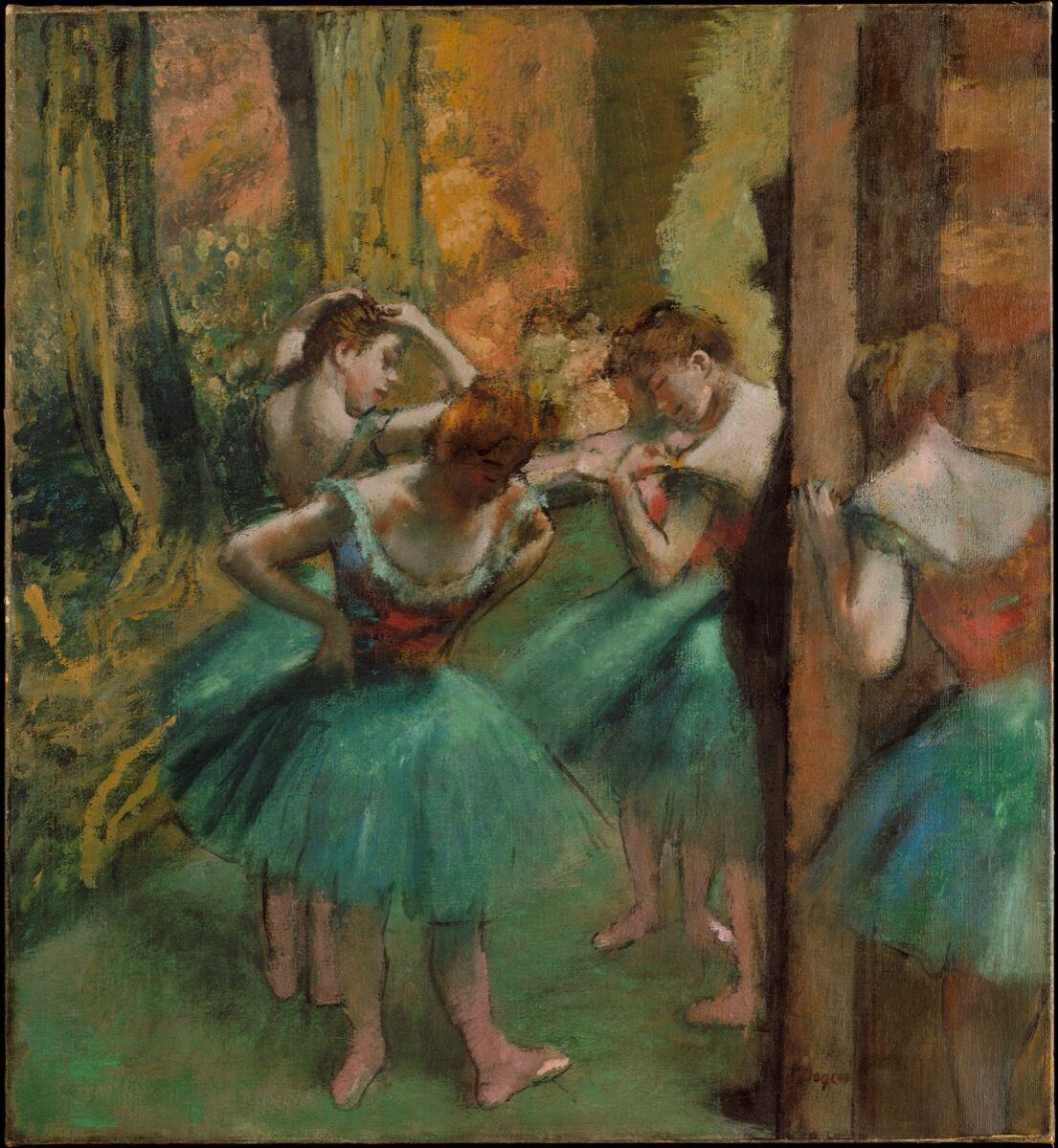 Edgar Degas, Dancers, Pink and Green, ca. 1890. Courtesy of the Metropolitan Museum of Art.
