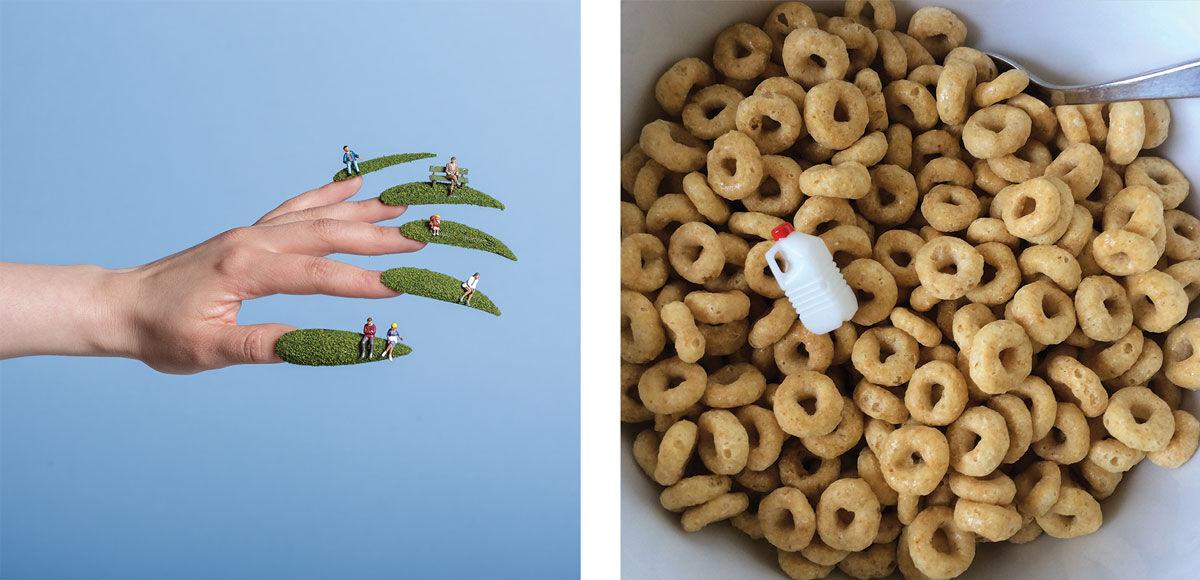 Left: Aleia Murawski, Tiny People Nails, 2015; Right:Aleia Murawski, Short on Milk, 2016. Images courtesy of the artist.