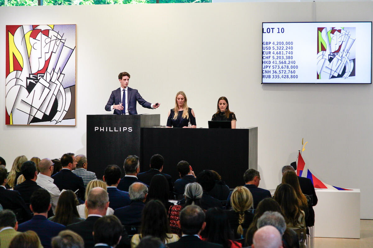 The 20th Century & Contemporary Art Evening Sale at Phillips on June 27, 2019. Courtesy Phillips.