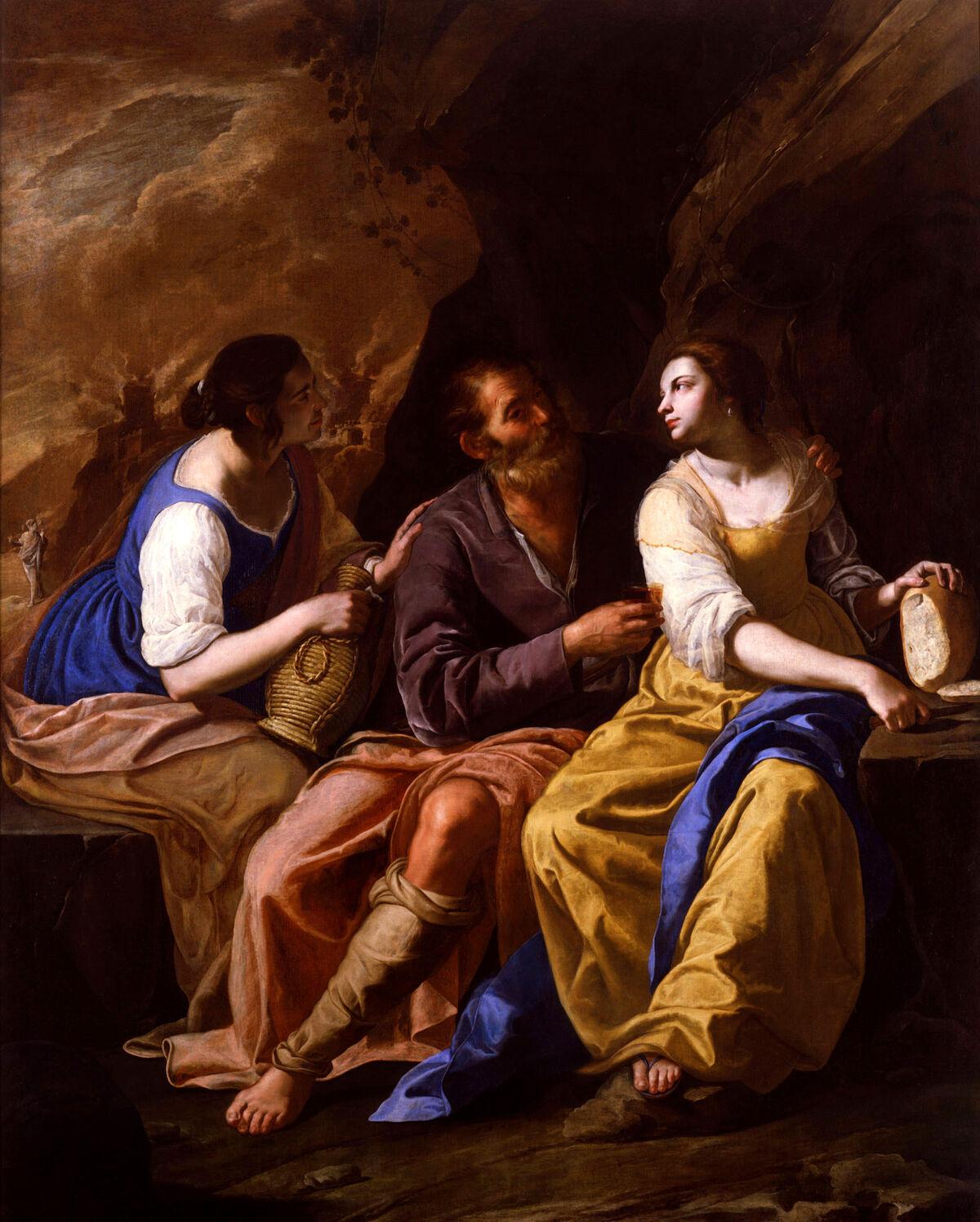Artemisia Gentileschi, Lot and his Daughters, between 1635-1638. Photo via Wikimedia Commons.