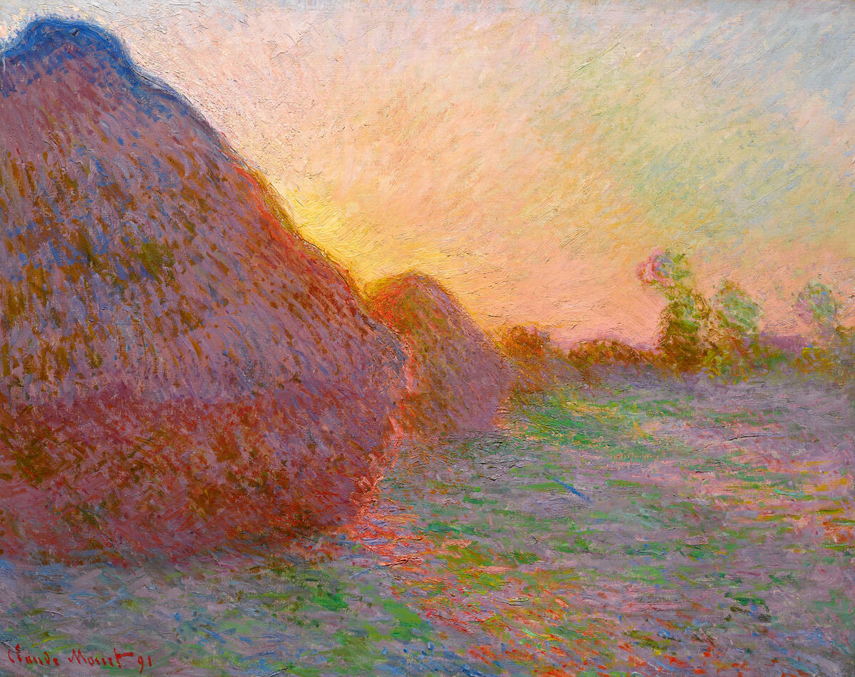 Claude Monet,  Meules , 1890. Courtesy of Sotheby's.