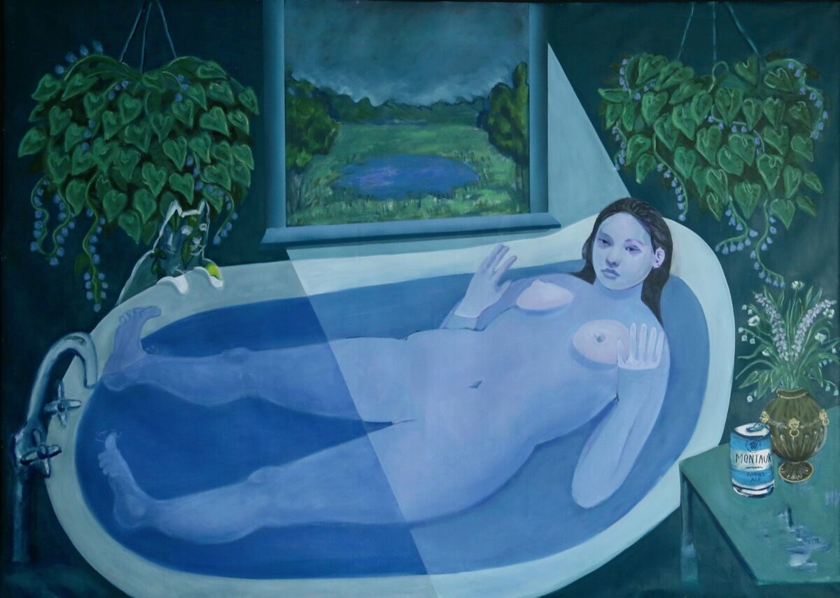 Bambou Gili, Ophelia in the Tub, 2019. Courtesy of artist and Arsenal Contemporary.