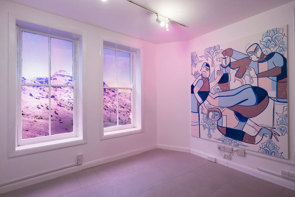 "Installation view of Melike Kara, ""My beloved Wild Valley,"" at Arcadia Missa. Photo by Ollie Hammick. Courtesy of the artist and Arcadia Missa, London."