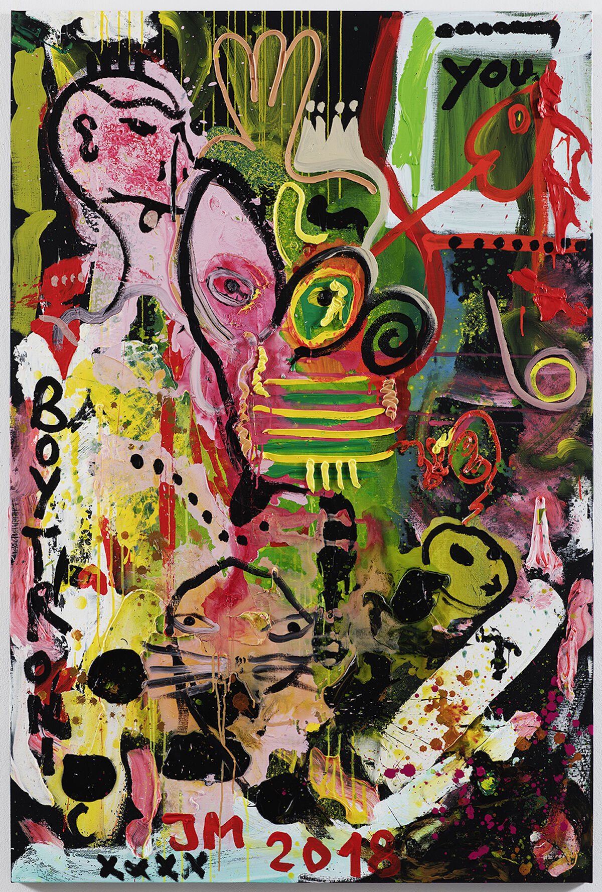 Jonathan Meese, GUIDO QUILLERZ A.R.T. IS BACK!, 2018. © Jonathan Meese. Courtesy of the artist and David Nolan Gallery, New York. Photo by Jan Bauer.