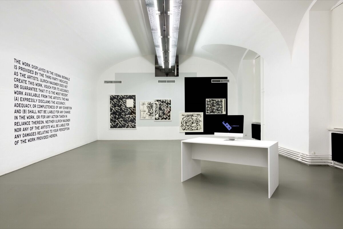 Installation view of Harm van den Dorpel, Event Listeners, 2015, at the Vienna Biennale, MAK Vienna. Courtesy of the artist and left gallery.