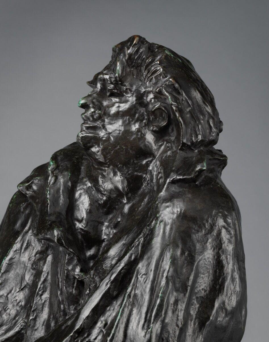 Auguste Rodin, Estudio Final para el Monumento a Balzac, modelado en 1897, año 1972. Foto a través del Museo Metropolitano de Arte.