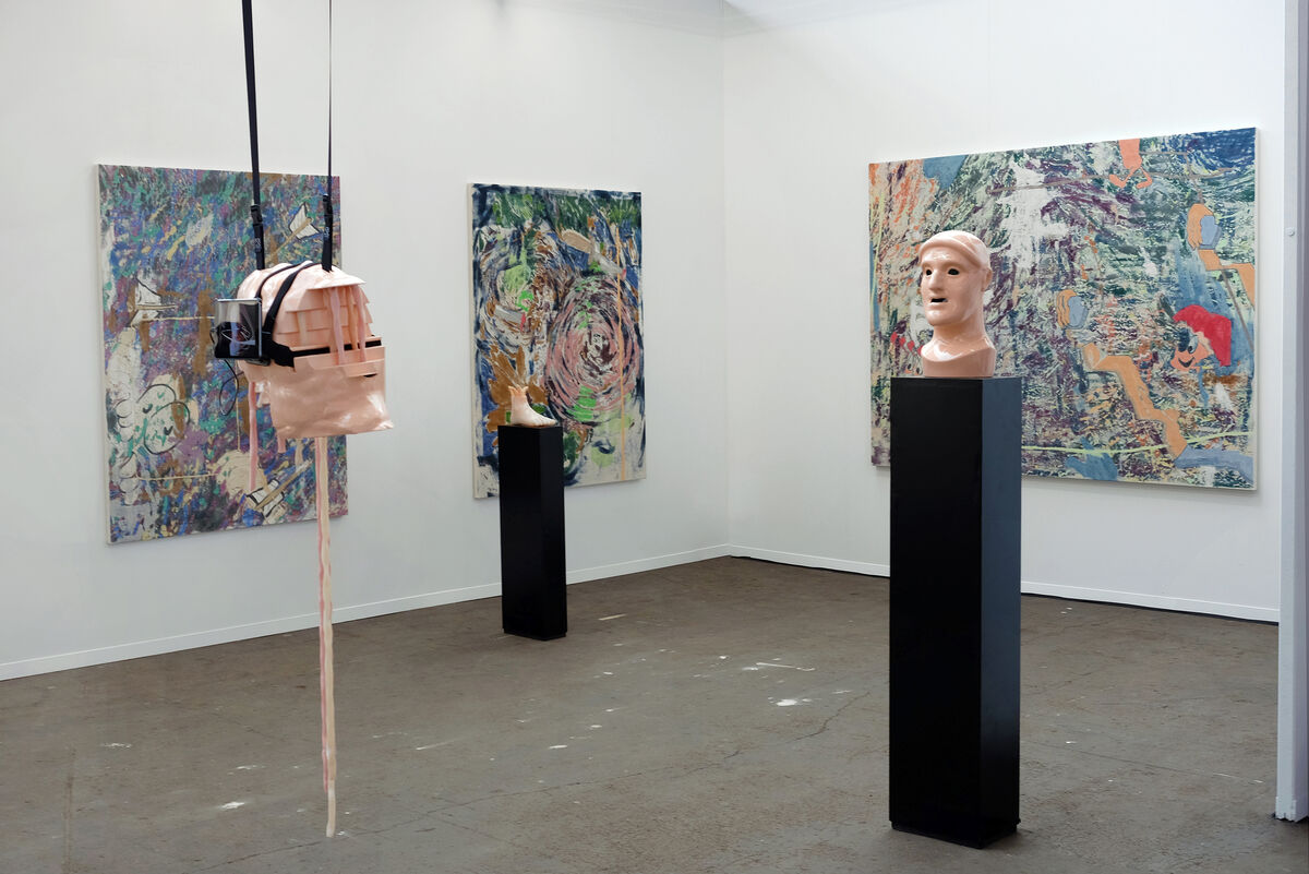 Installation view of Lyles & King's booth at Art Brussels, 2016. Photo courtesy of Lyles & King.