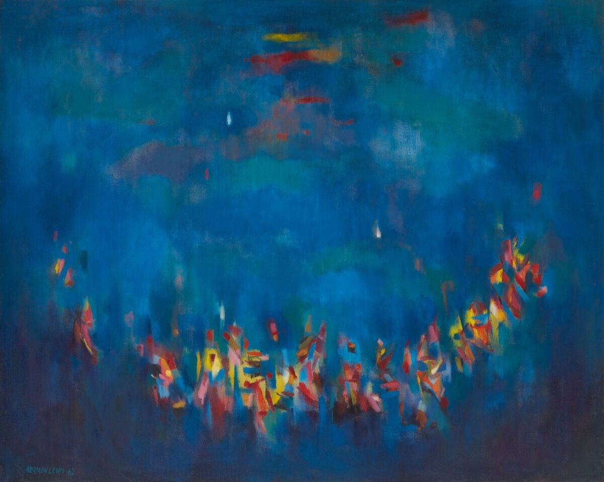 Norman Lewis, Ritual, 1962. © Estate of Norman Lewis. Courtesy of Michael Rosenfeld Gallery LLC, New York, NY.