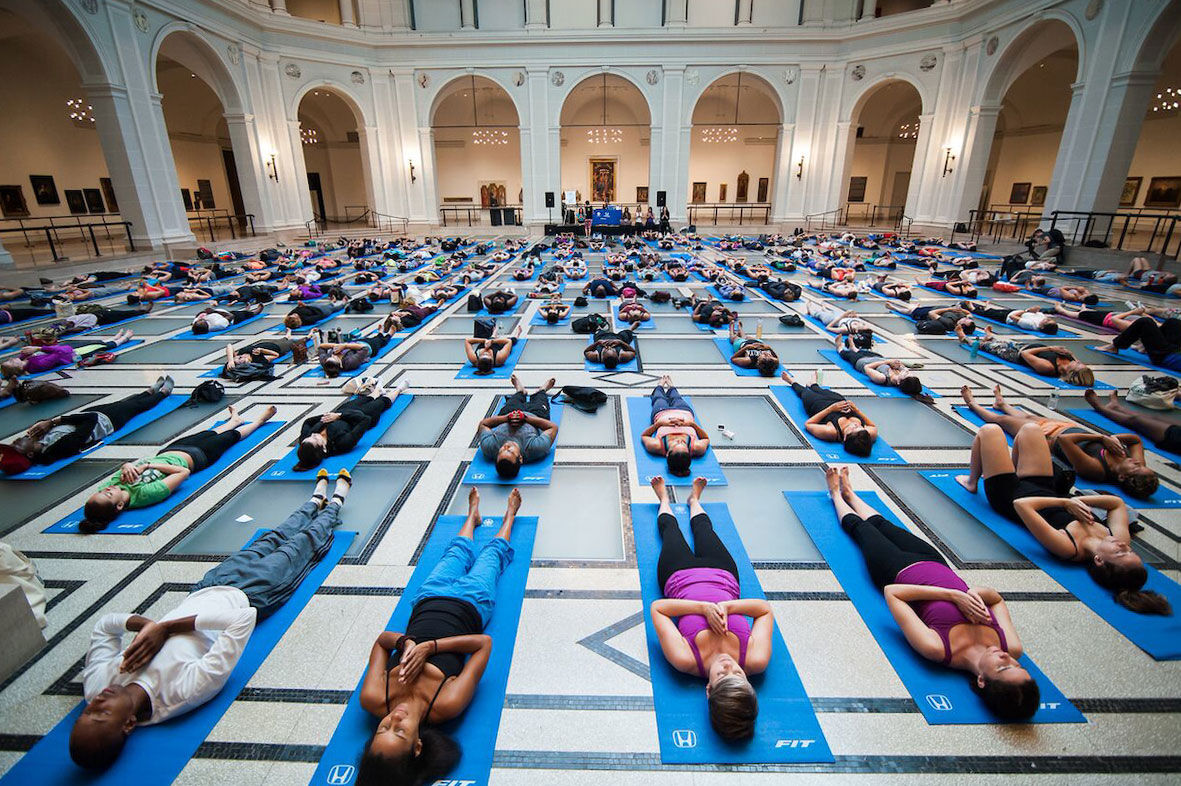 """Art of Yoga"" at the Brooklyn Museum. Photo by Sasha Juliard. Courtesy of the Brooklyn Museum."