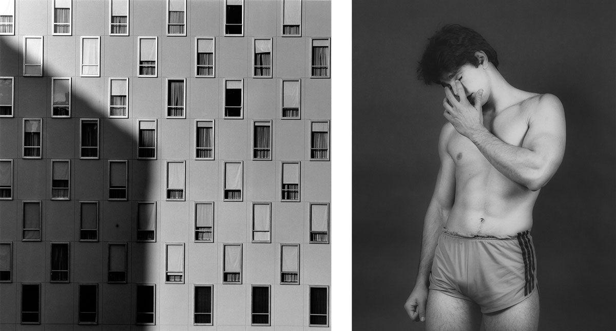 Left: Robert Mapplethorpe, Apartment Window, 1977. Right: Robert  Mapplethorpe, Arthur