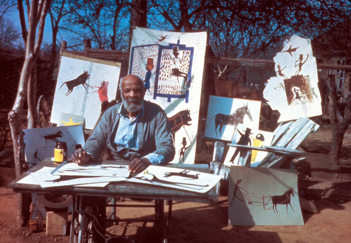 Bill Traylor in Montgomery, 1946. Photo by Horace Perry. Courtesy of the  Collection of the Alabama State Council on the Arts.