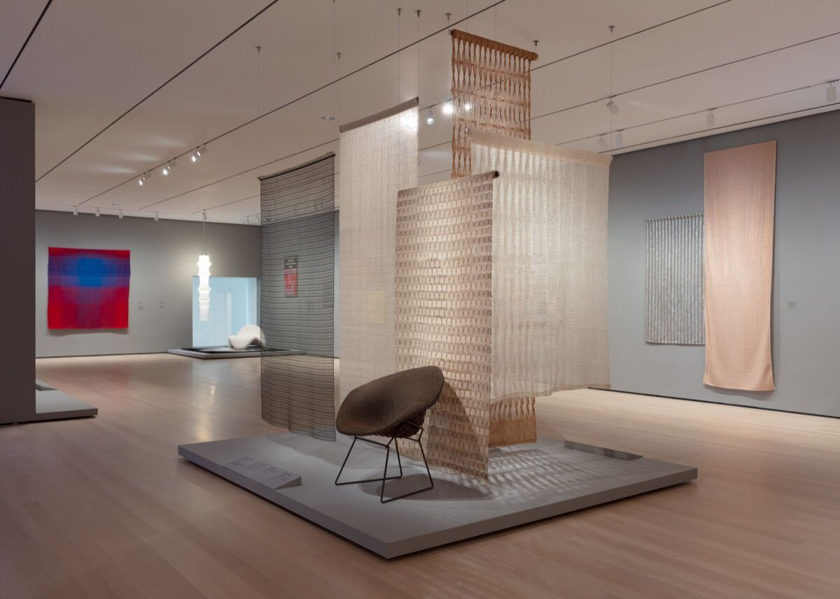 "Installation view of ""Taking a Thread for a Walk"", at The Museum of Modern Art, New York. Photo by Denis Doorly. © 2019 The Museum of Modern Art."