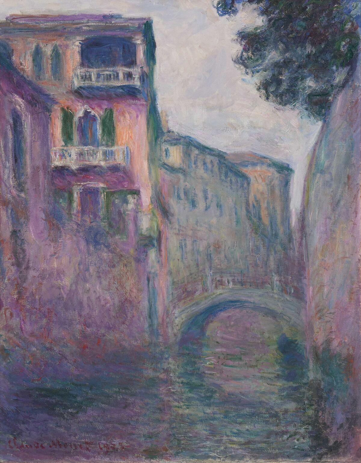 Claude Monet, Le Rio de la Salute, 1908. Courtesy of Lévy Gorvy.